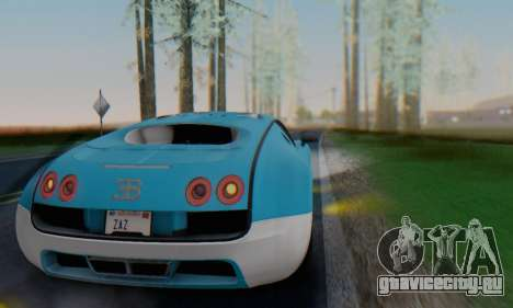 Bugatti Veyron Super Sport 2011 для GTA San Andreas вид сверху