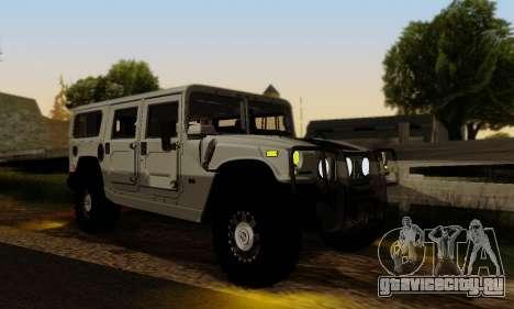 Hummer H1 Alpha для GTA San Andreas вид изнутри