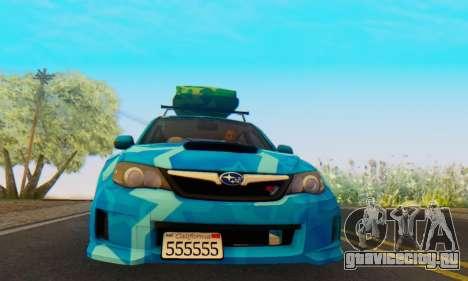 Subaru Impreza Blue Star для GTA San Andreas вид слева