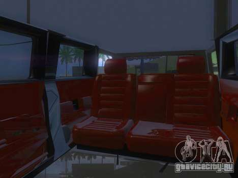 Hummer H2 Limousine для GTA San Andreas вид сбоку
