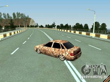 ВАЗ 2110 камуфляж для GTA San Andreas вид сзади слева