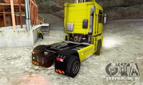 Renault Magnum Stock 2009 для GTA San Andreas вид слева