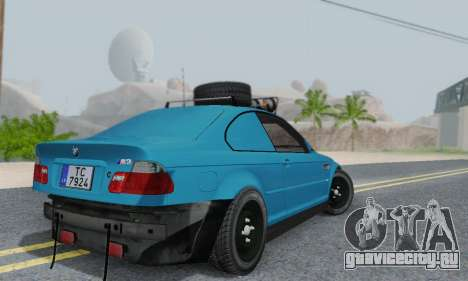 BMW M3 E46 Offroad Version для GTA San Andreas вид сзади