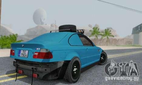 BMW M3 E46 Offroad Version для GTA San Andreas вид сзади