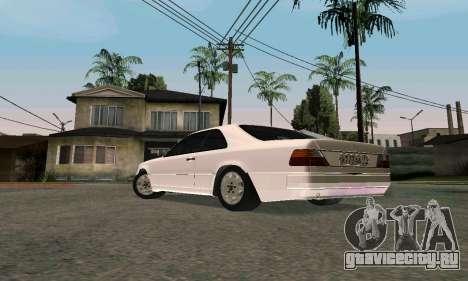 Mercedes-Benz W124 Coupe для GTA San Andreas вид сзади слева
