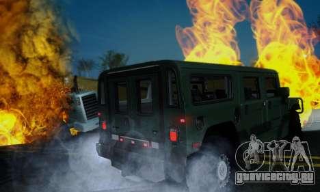 Hummer H1 Alpha для GTA San Andreas вид сзади