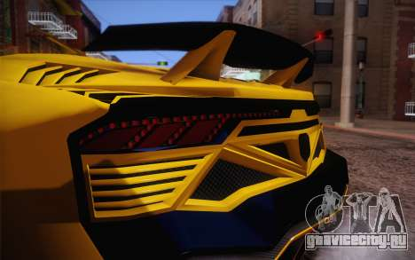 Zentorno из GTA 5 для GTA San Andreas вид сбоку