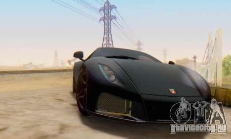 GTA Spano 2014 IVF для GTA San Andreas вид сзади слева