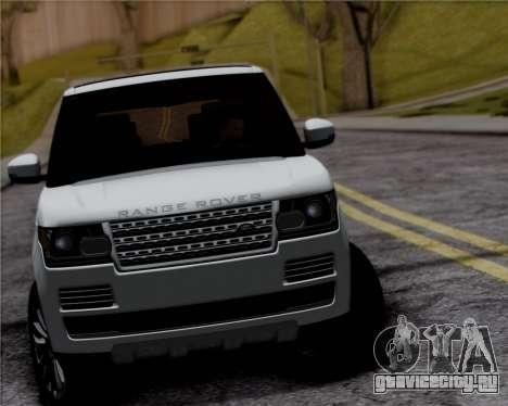 Range Rover Vogue 2014 для GTA San Andreas вид сзади