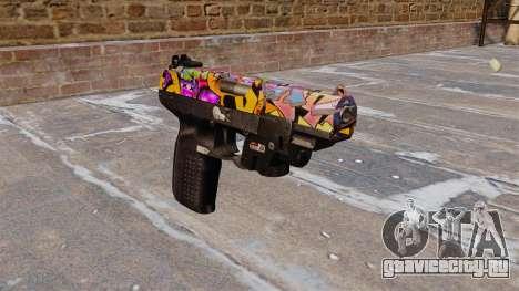 Пистолет FN Five-seveN LAM Graffitti для GTA 4