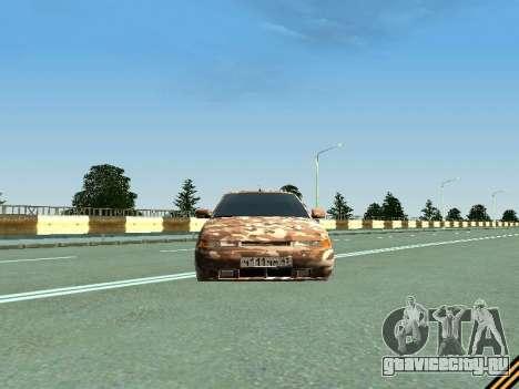 ВАЗ 2110 камуфляж для GTA San Andreas вид сзади