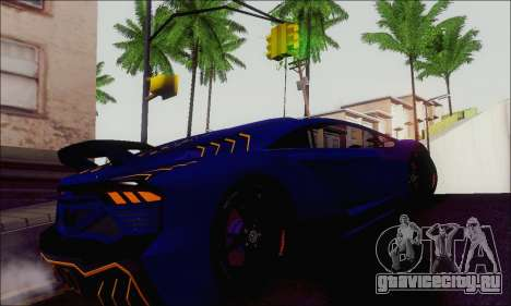 Zentorno GTA 5 V.1 для GTA San Andreas вид сзади