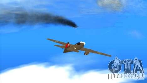Messerschmitt Me.262 Schwalbe для GTA San Andreas вид сбоку