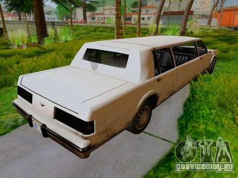 Greenwood Limousine для GTA San Andreas вид сзади слева