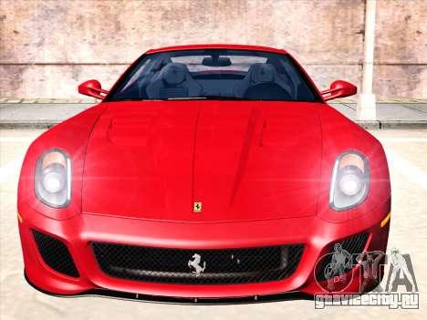Ferrari 599 GTO для GTA San Andreas вид слева