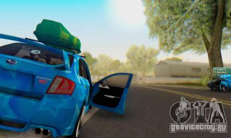 Subaru Impreza Blue Star для GTA San Andreas вид снизу