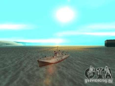 Торпедный катер типа Г-5 для GTA San Andreas вид справа