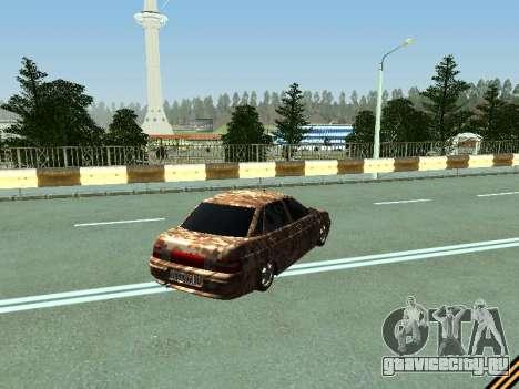 ВАЗ 2110 камуфляж для GTA San Andreas вид справа
