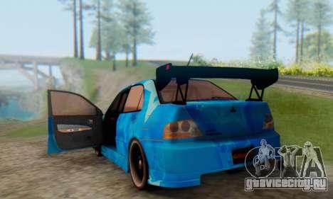 Mitsubishi Lancer Evolution IIIX Blue Star для GTA San Andreas вид сбоку