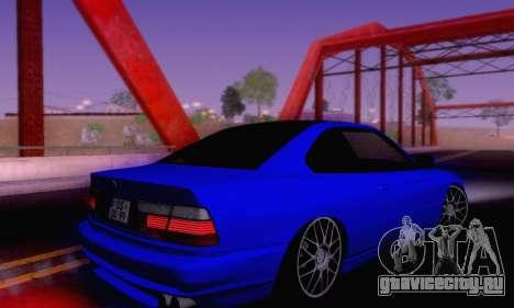 BMW 850CSI 1996 для GTA San Andreas вид снизу