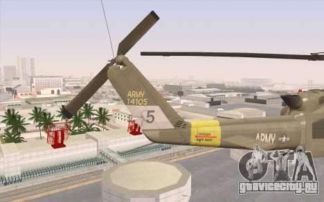 UH-1 Huey для GTA San Andreas вид сзади слева