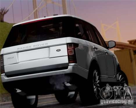 Range Rover Vogue 2014 для GTA San Andreas вид справа