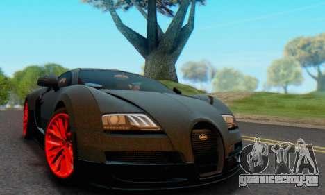 Bugatti Veyron Super Sport 2011 для GTA San Andreas вид сзади