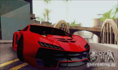 Zentorno GTA 5 V.1 для GTA San Andreas вид сбоку