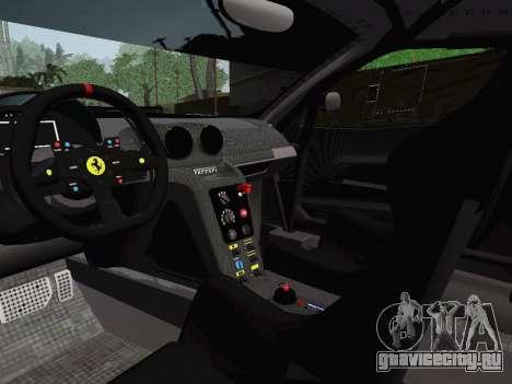 Ferrari 599XX Evolution для GTA San Andreas вид сбоку