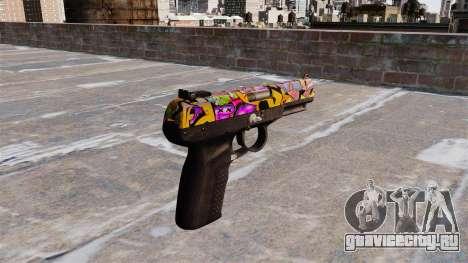 Пистолет FN Five-seveN Graffitti для GTA 4 второй скриншот