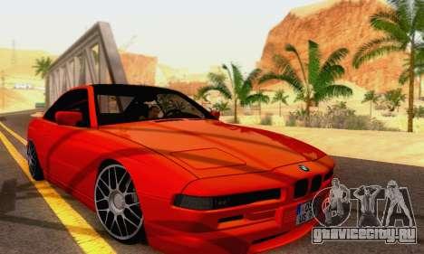 BMW 850CSI 1996 для GTA San Andreas вид изнутри