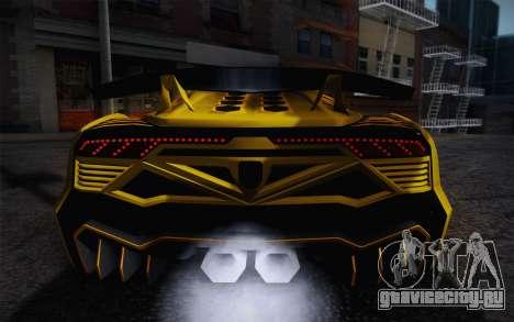 Zentorno из GTA 5 для GTA San Andreas салон