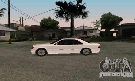 Mercedes-Benz W124 Coupe для GTA San Andreas вид справа