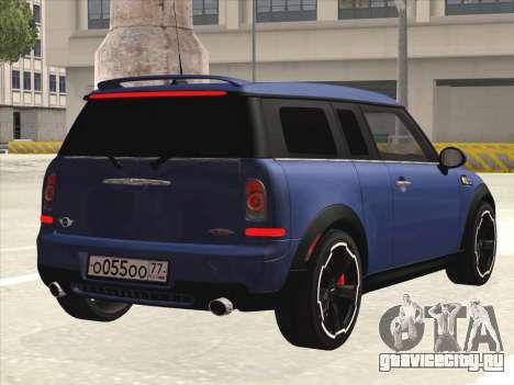Mini Cooper Clubman JCW для GTA San Andreas вид справа
