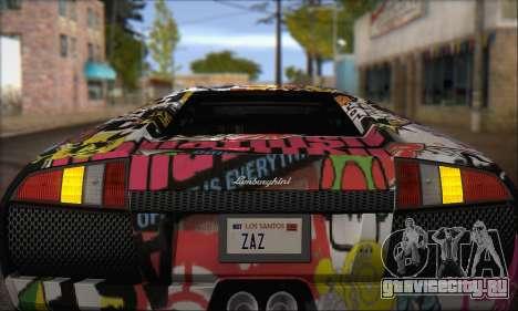 Lamborghini Murciélago 2005 Memes Editions IVF для GTA San Andreas вид изнутри