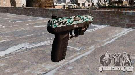 Пистолет FN Five-seveN LAM Aqua Camo для GTA 4 второй скриншот