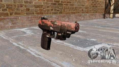 Пистолет FN Five-seveN LAM Red tiger для GTA 4