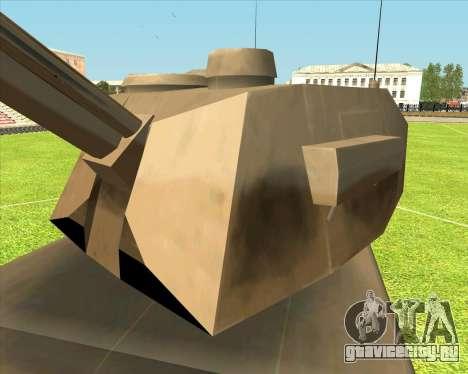 Rhino tp.RVNG-AM cal.155 для GTA San Andreas вид сзади слева