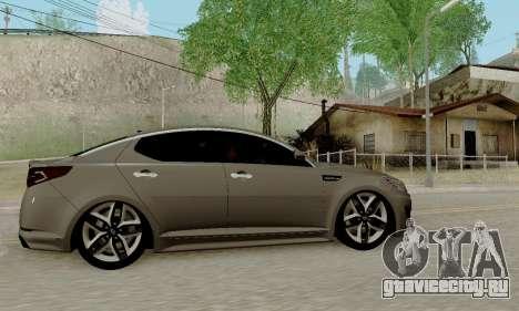 Kia Optima Stock для GTA San Andreas вид сзади слева