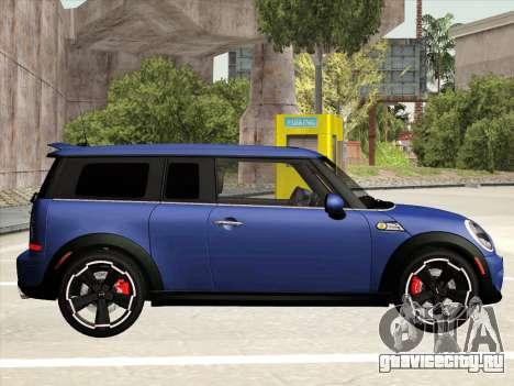 Mini Cooper Clubman JCW для GTA San Andreas вид сзади слева