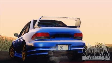 Subaru Impreza 22B STi 1998 для GTA San Andreas вид изнутри