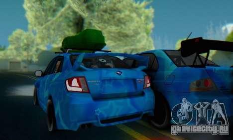 Subaru Impreza Blue Star для GTA San Andreas вид сзади