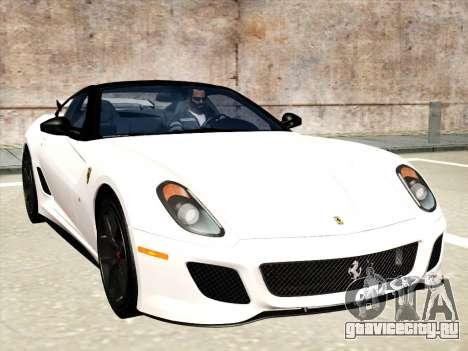 Ferrari 599 GTO для GTA San Andreas салон