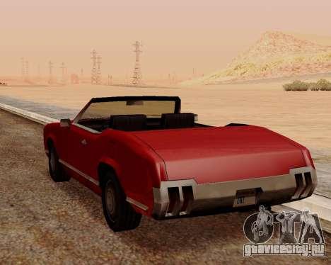 Sabre Кабриолет для GTA San Andreas вид сзади слева