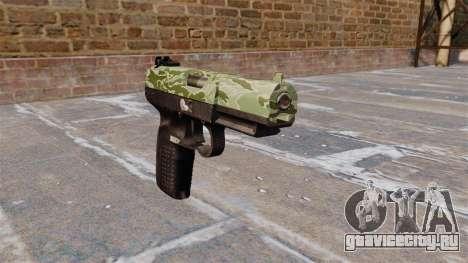 Пистолет FN Five-seveN Green Camo для GTA 4