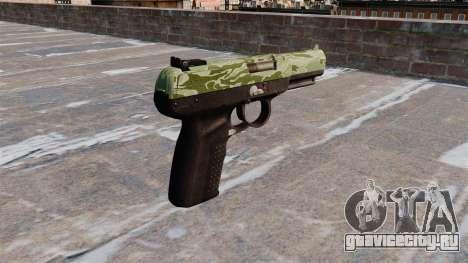 Пистолет FN Five-seveN Green Camo для GTA 4 второй скриншот