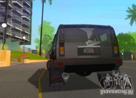 Hummer H2 Limousine для GTA San Andreas вид справа