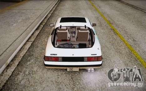 Mazda RX-7 GSL-SE 1985 HQLM для GTA San Andreas вид снизу