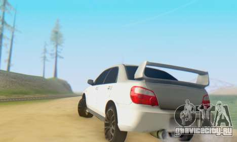 Subaru Impreza WRX для GTA San Andreas вид изнутри