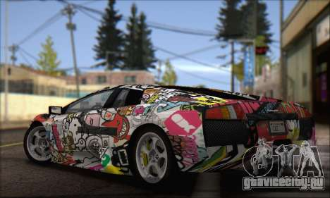 Lamborghini Murciélago 2005 Memes Editions IVF для GTA San Andreas вид слева